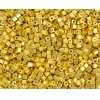 Square Beads 3.4x3.4mm Metallic Yellow Terra Colour